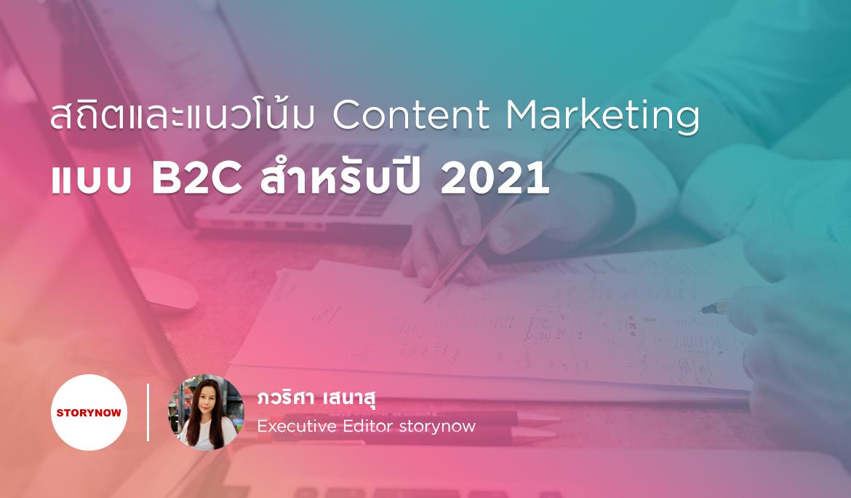 สถิตและแนวโน้ม Content Marketing แบบ B2C สำหรับปี 2021